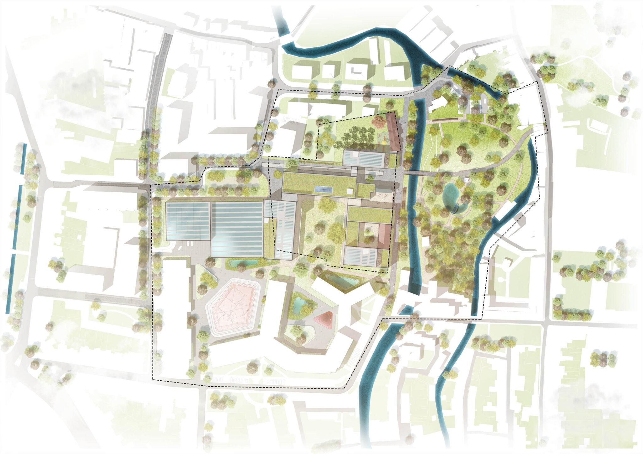 Redingensite Leuven - RAU Architects - Presentation plan