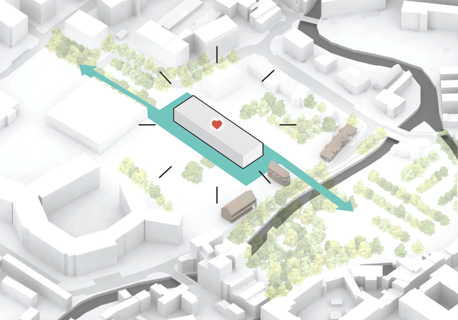 Redingensite Leuven - RAU Architects scheme_a hart van het gebouw