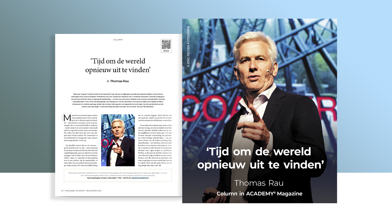 Thomas RAU column in Speakers Academy Magazine 20-21