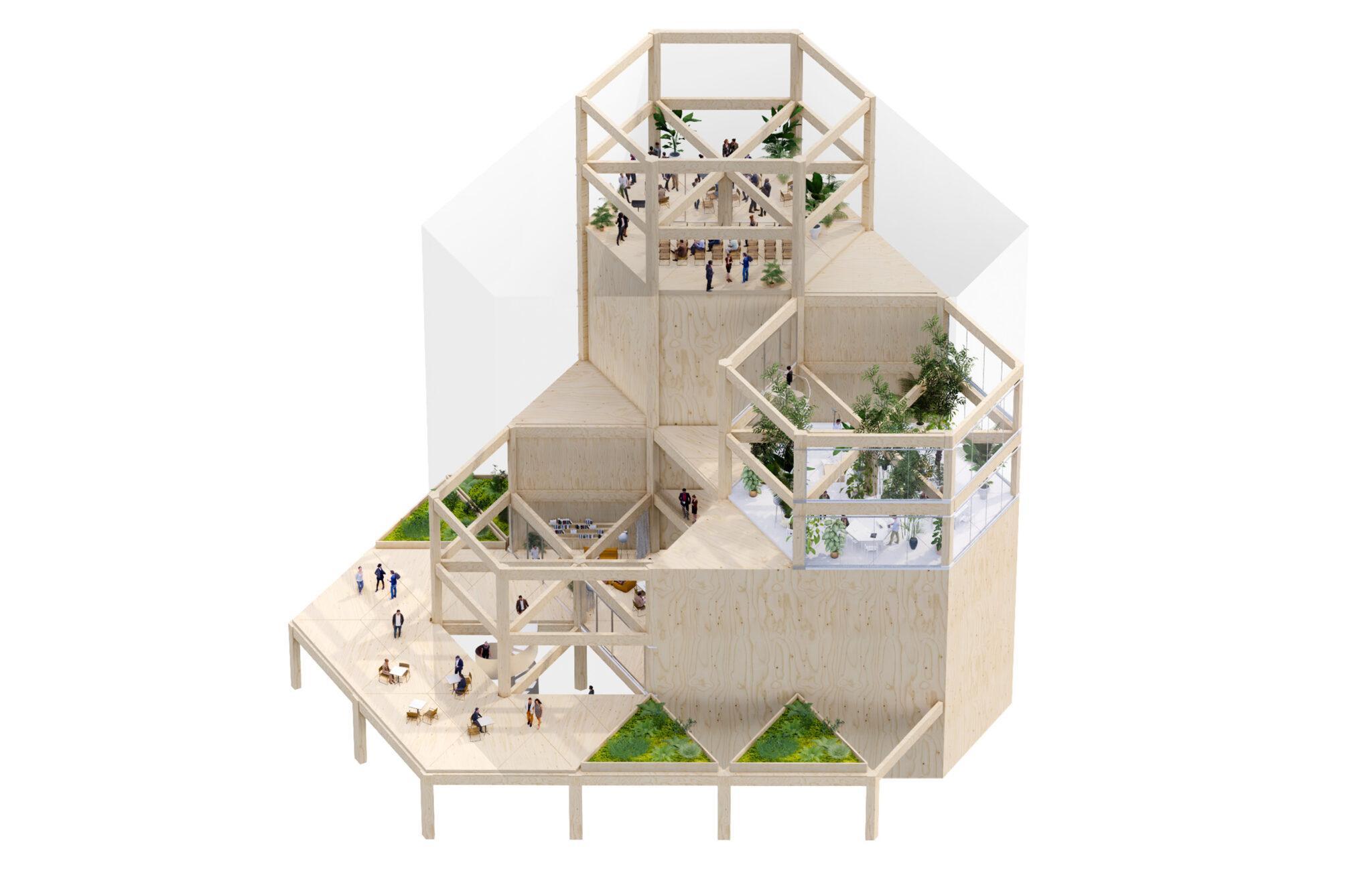 Leiedal RAU Architects Axonometry