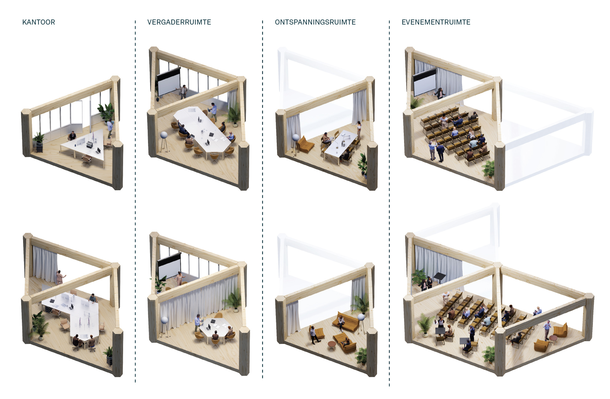 Leiedal RAU Architects Different configurations